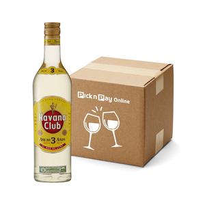 Havana Club Anejo 3 YO Rum 750ml x 12