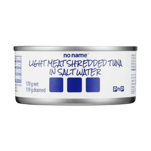 PnP No Name Shredded Tuna In Salt Water 170g x 48