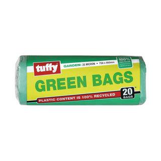 Tuffy Green Refuse Bags Roll 750x950mm 20ea x 25