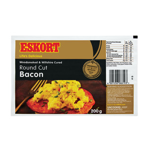 Eskort Round Cut Bacon 200g
