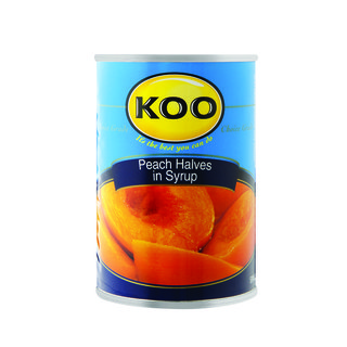 Koo Choice Grade Peach Halves 410g x 12