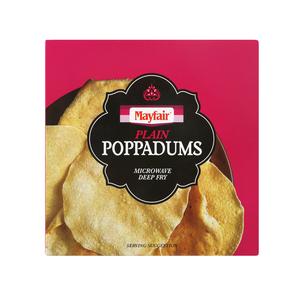Mayfair Poppadums Plain 118g
