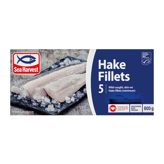 Sea Harvest Prime Hake Fillets 800g x 12