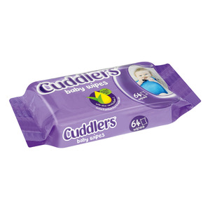Cuddlers Baby Wipes 64s