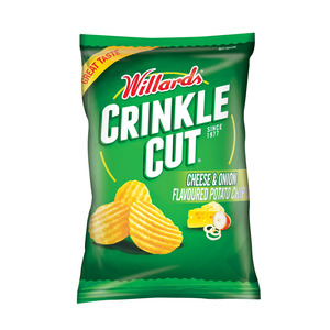 Willards Cheese & Onion Chips 125g x 15
