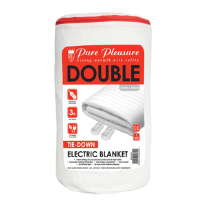 Pure Pleasure Double Non Fitted Electric Blanket 137x150cm
