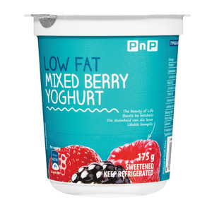 PnP Low Fat Mixed Berry Yoghurt 175g