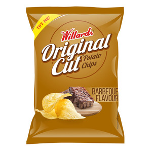Willards Barbeque Straight Cut Chips 125g
