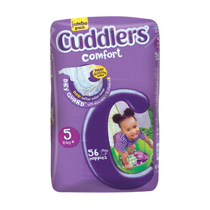 Cuddlers Comfort Diapers Size 5 15kg+ 56s