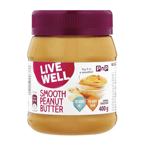 Pnp Live Well Smooth Peanut Butter 400gr