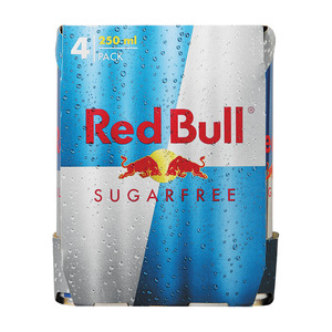 Red Bull Sugar Free Energy Drink 250ml x 4