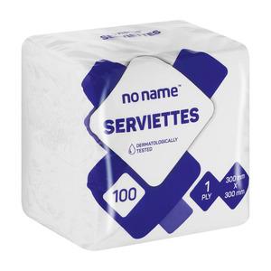 PnP No Name Serviettes White 100s
