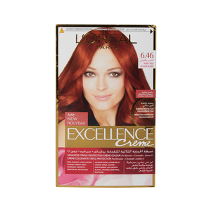 Excellence Creme Perm Hair Col 6.46 Red