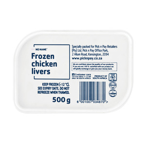 No Name Frozen Chicken Liver 500 GR
