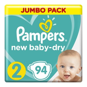 Pampers New Baby Nappies Size 2 Mini 3-6kg Jumbo 94s