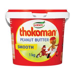 Thokoman Smooth Peanut Butter 1kg