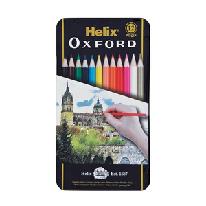 Oxford Colouring Pencils In Box 12ea