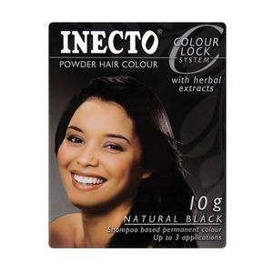 Inecto Black Hair Color Powd er 10 GR