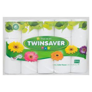 Twinsaver Toilet Rolls 1 Ply White 15s