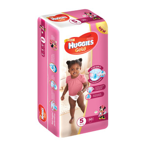 Huggies Gold Girl 15+kg Size 5 50s