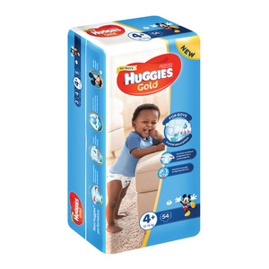 Huggies Gold Nappies 12-16kg Size 4+ 54s