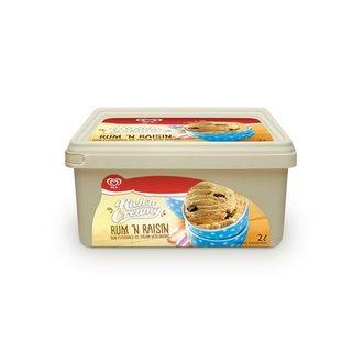 Ola Rich'n Cream Rum And Rai sin Ice Cream 2 L