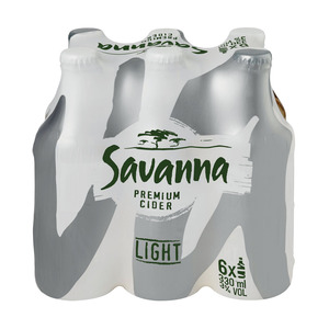 Savanna Cider Light 330ml x 6