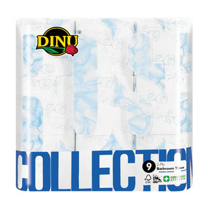 Dinu Blue Rose Toilet Rolls 2 Ply 9ea