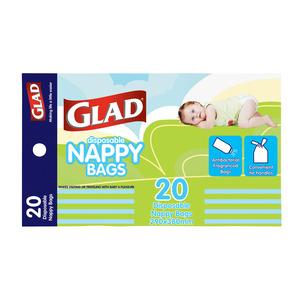 Glad Tie Handle Nappy Bag 20