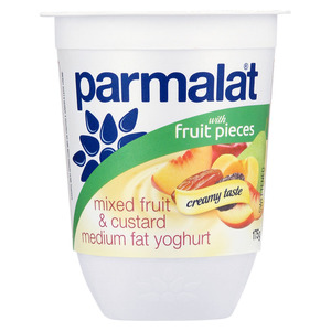 Parmalat Medium Fat Stewed Fruit & Custard Yoghurt 175g