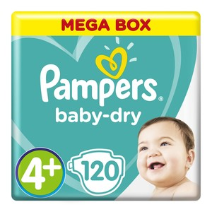 Pampers Active Baby Mega Pack Maxi Plus 120ea