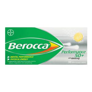 Berocca 50+ Focus Multivitamin 30ea