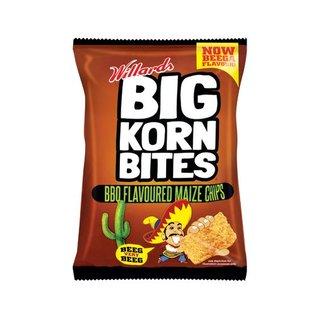 Willards Big Corn Bites Barbeque Chips 50gr X 48