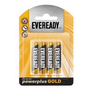 Eveready Battery Power Plus Gold Aaa 4p 4