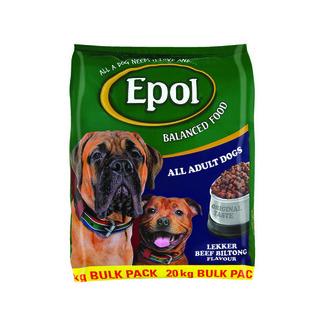 Epol Dog Food Sizzling Lekker Beef Biltong Flavour 20kg
