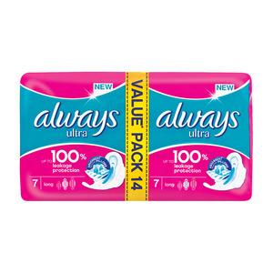 Always Ultra Sanitary Pads Long 14s