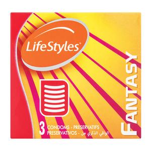 Lifestyle Ribbed Condoms 3ea