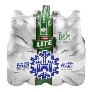 Castle Lite Beer 440ml x 8
