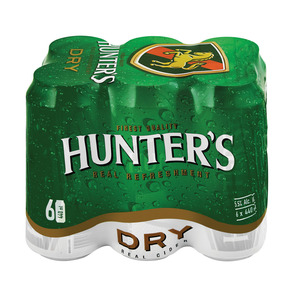 Hunters Dry Cider Can 440 ml x 6