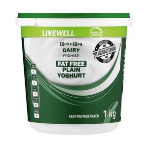 PnP Live Well Fat Free Plain Yoghurt 1kg