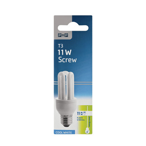 PnP Energy Save 11w Cool White Screw In