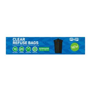 PnP Clear Refuse Bag Interleafed 10ea