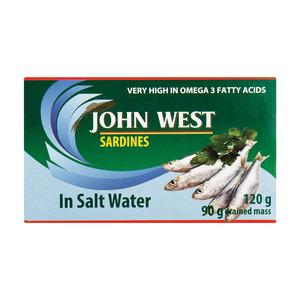 John West Sardines In Brine 120g