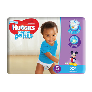 Huggies Nappy Pants Boy Size 5 32s