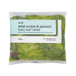 PnP Wild Rocket & Spinach Baby Leaf Salad 120g