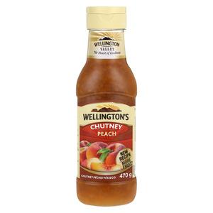 Wellington's Squeeze Peach Chutney 470g