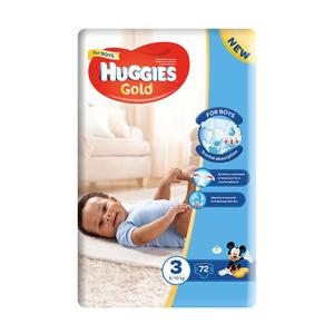 Huggies Gold Boys 6-10kg Size 3 72s