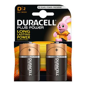 Duracell Batteries Power Plu S D Size 2