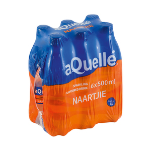 Aquelle Naartjie Flavoured Mineral Water 500ml x 6