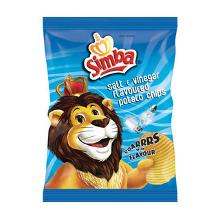 Simba Salt & Vinegar Chips 125g x 24